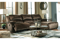 36504 Clonmel Chocolate 3-Piece Power Reclining Sectional with Chaise | 36504S11 | by Ashley | Nova Furniture