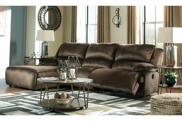 36504 Clonmel Chocolate 3-Piece Power Reclining Sectional with Chaise | 36504S12 | by Ashley | Nova Furniture