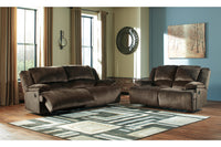 36504 Clonmel Chocolate Reclining Sofa & Loveseat