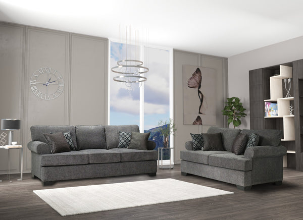 Melstone Charcoal Sofa & Loveseat