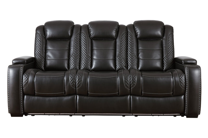 37003 Party Time Midnight Power Reclining Sofa & Loveseat