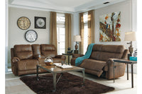 38400 Austere Brown Reclining Sofa & Loveseat