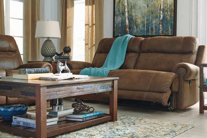38400 Austere Brown Power Reclining Sofa & Loveseat