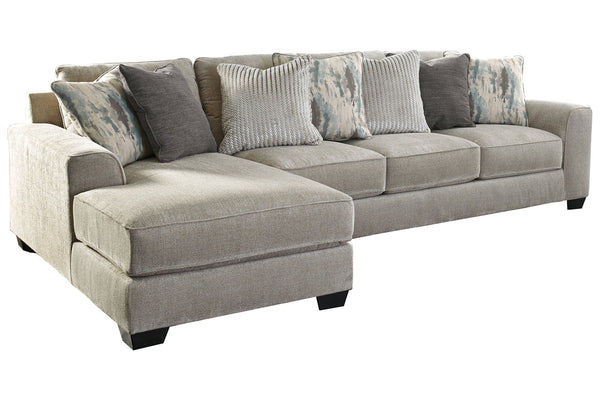 39504 Ardsley Pewter 2-Piece 4-Seater LAF Chaise Sectional