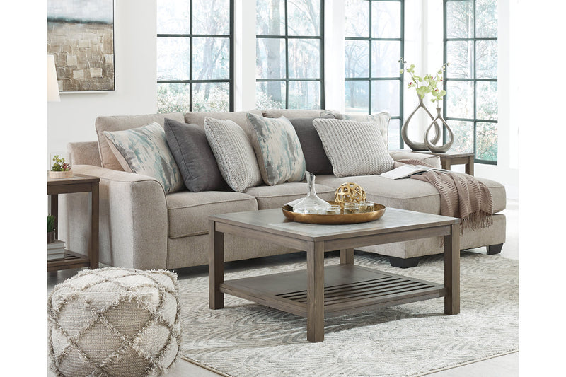 39504 Ardsley Pewter 2-Piece Sectional with Chaise | 39504S13 | by Ashley | Nova Furniture