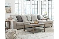 39504 Ardsley Pewter 3-Piece Sectional with Chaise | 39504S14 | by Ashley | Nova Furniture