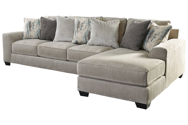 39504 Ardsley Pewter 2-Piece 4-Seater RAF Chaise Sectional