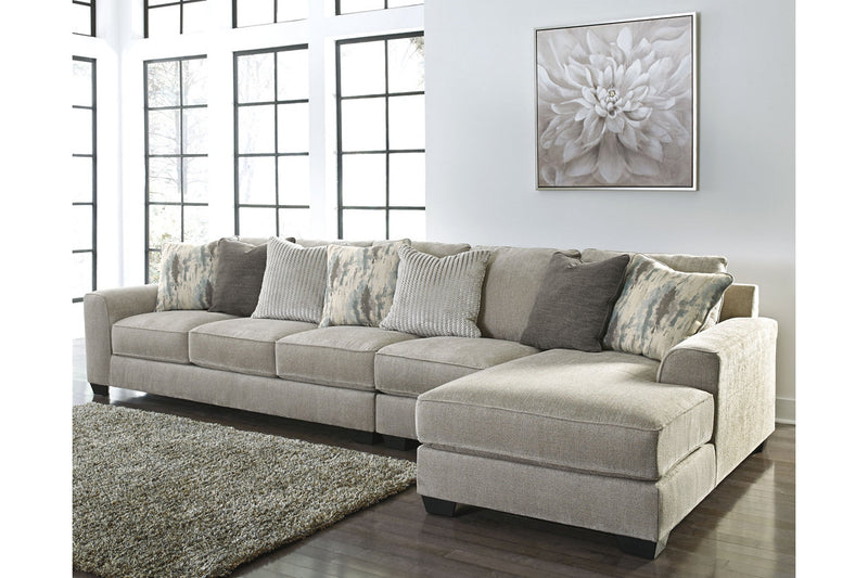 39504 Ardsley Pewter 3-Piece Sectional with Chaise | 39504S6 | by Ashley | Nova Furniture