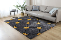 CSR2082-5X7 - Casa Shag 3D Gray/Yellow Area Rug