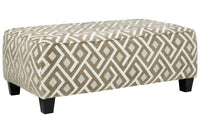40401 Dovemont Putty Oversized Accent Ottoman