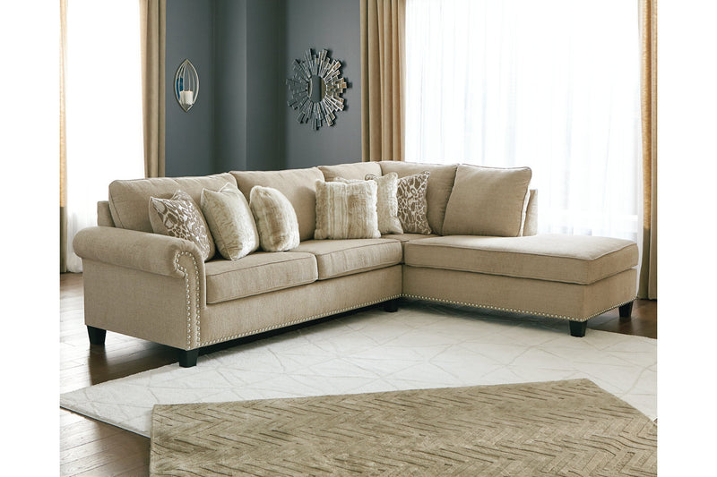 40401 Dovemont Putty 2-Piece Sectional with Chaise | 40401S1 | by Ashley | Nova Furniture