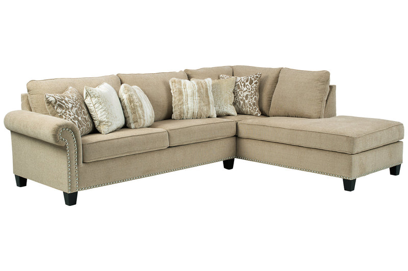 40401 Dovemont Putty 2-Piece RAF Chaise Sectional