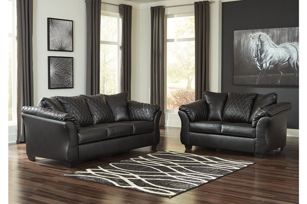 40502 Betrillo Black Sofa & Loveseat