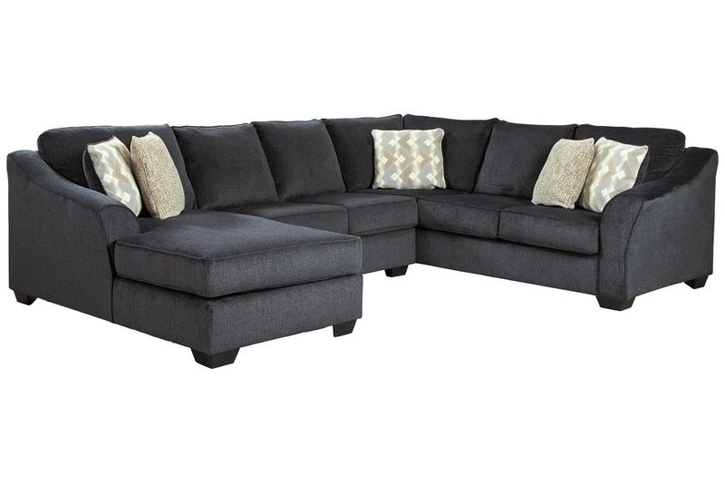 41303 Eltmann Slate 3-Piece RAF Chaise Sectional