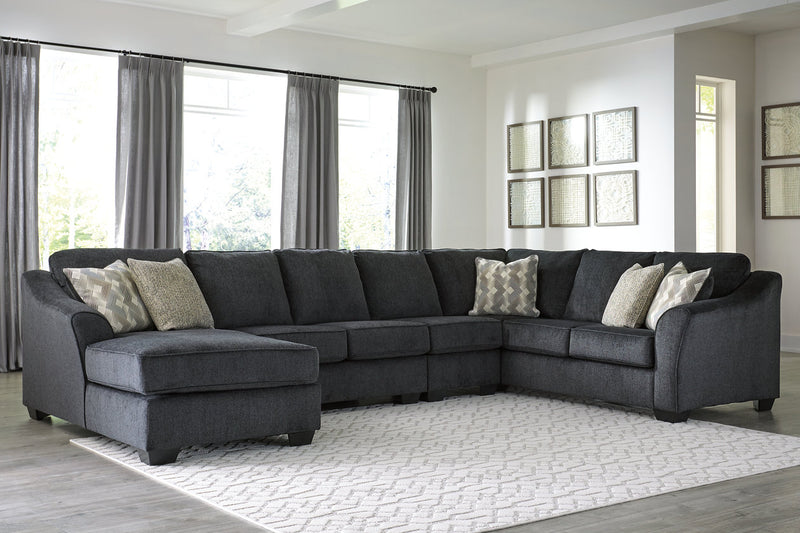41303 Eltmann Slate 4-Piece Sectional with Chaise | 41303S7 | by Ashley | Nova Furniture