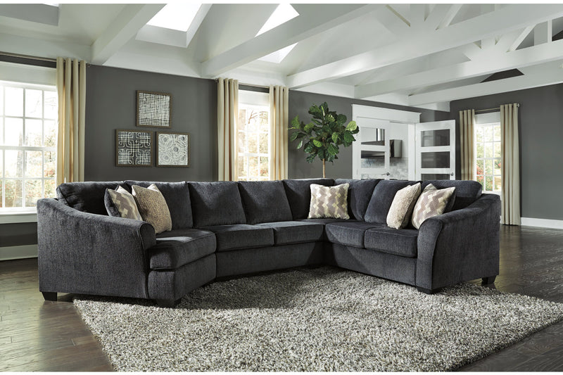 41303 Eltmann Slate 3-Piece Sectional with Cuddler | 41303S3 | by Ashley | Nova Furniture