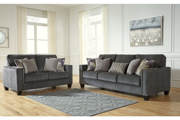 43001 Gavril Smoke Sofa & Loveseat