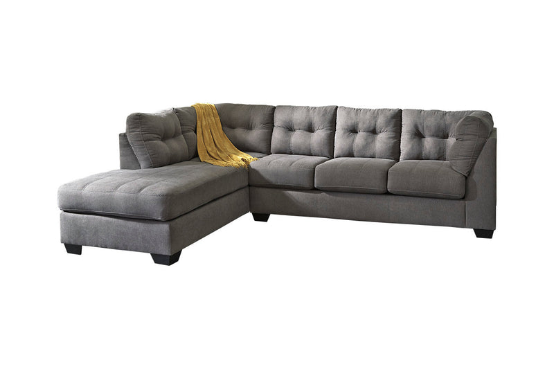 45200 Maier Charcoal 2-Piece LAF Chaise Sleeper Sectional