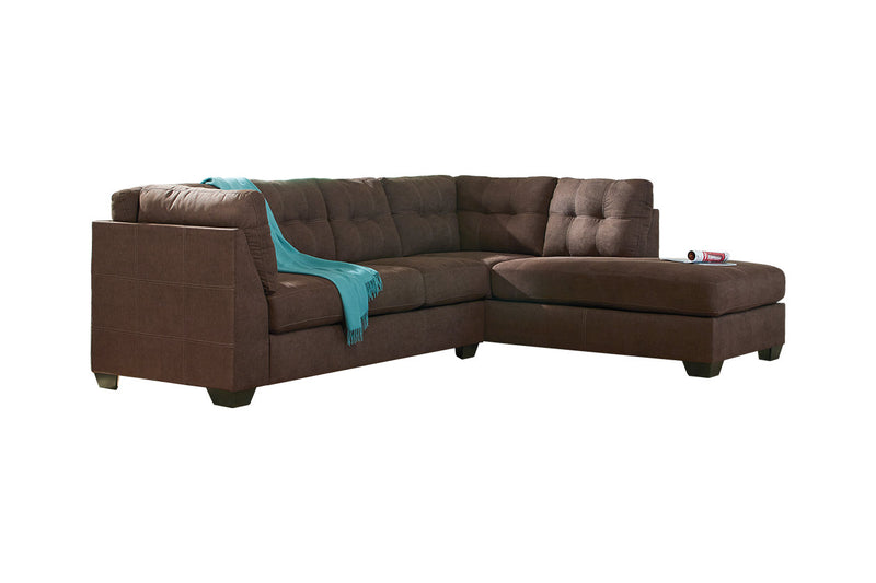 45201 Maier Walnut 2-Piece RAF Chaise Sleeper Sectional
