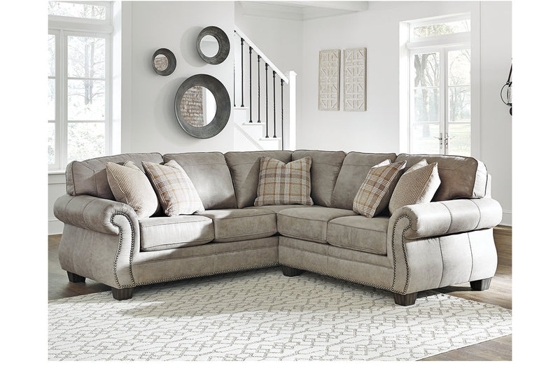 48701 Olsberg Steel 2-Piece Sectional | 48701S1 | by Ashley | Nova Furniture