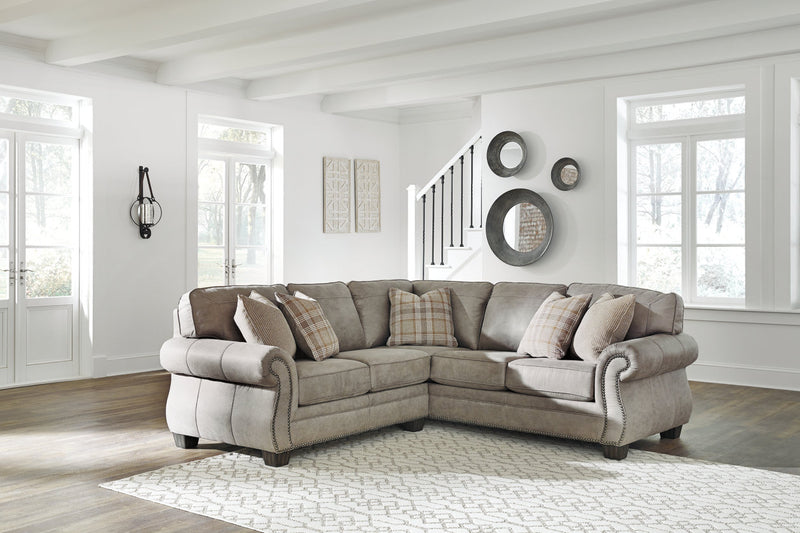 48701 Olsberg Steel 2-Piece Sectional | 48701S3 | by Ashley | Nova Furniture