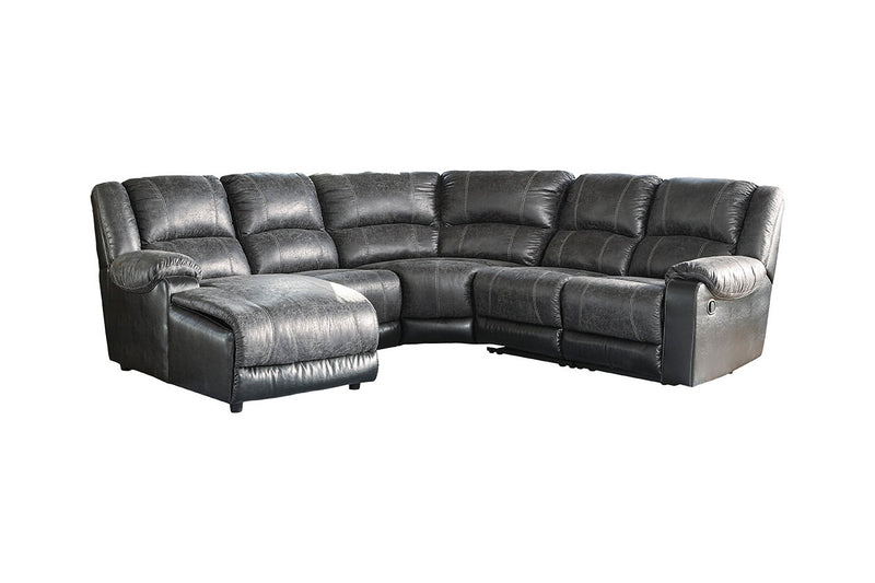 50302 Nantahala Coffee 5-Piece Reclining LAF Chaise Sectional
