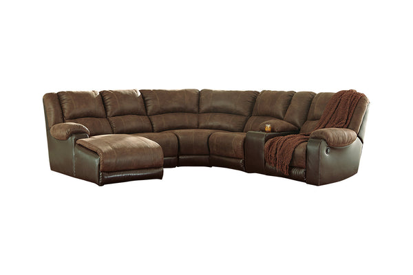 50302 Nantahala Coffee 6-Piece Reclining LAF Chaise Sectional