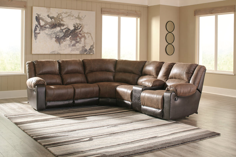 50302 Nantahala Coffee 6-Piece Reclining Sectional | 50302S6 | by Ashley | Nova Furniture