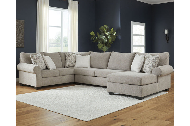51503 Baranello Stone 3-Piece Sectional with Chaise | 51503S2 | by Ashley | Nova Furniture