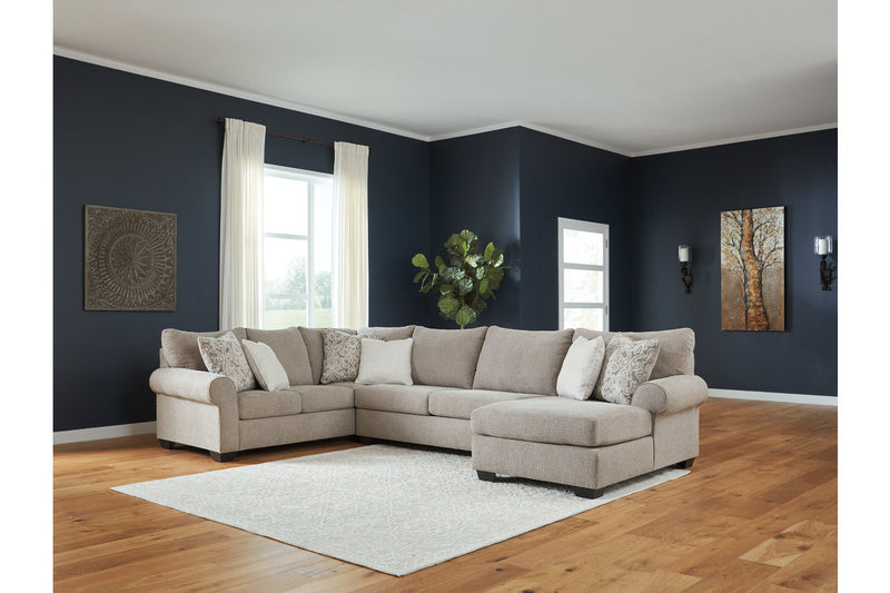 51503 Baranello Stone 3-Piece RAF Chaise Sectional