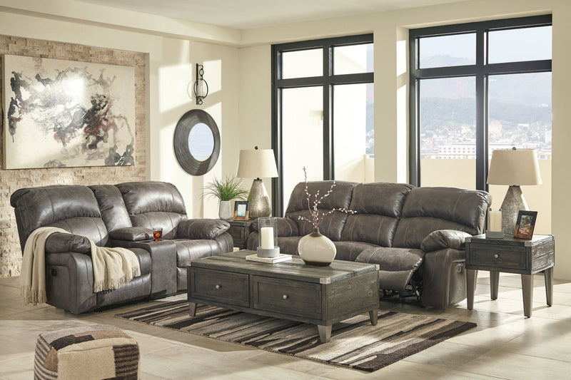 51601 Dunwell Steel Power Reclining Sofa & Loveseat