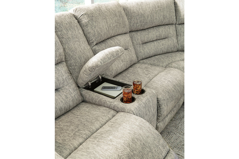 51802 Family Den Pewter 3-Piece Power Reclining Sectional