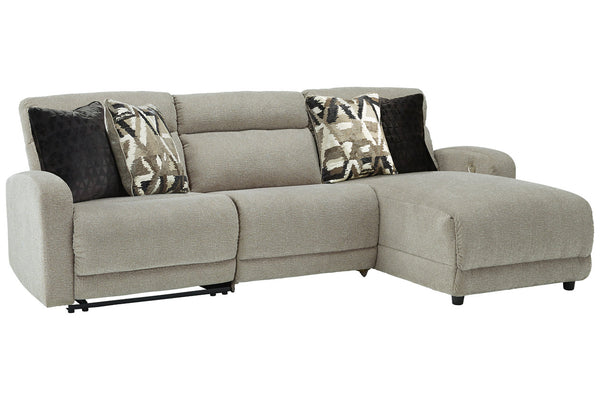 54405 Colleyville Stone 3-Piece Power Reclining Sectional with Chaise