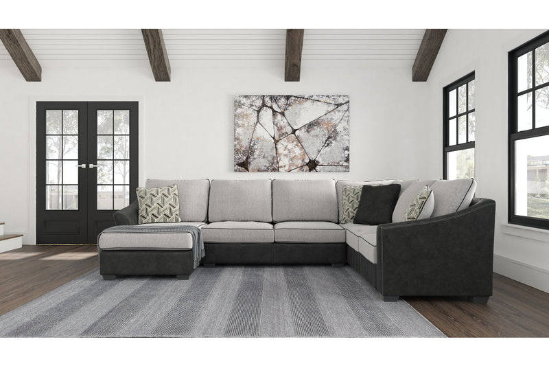55003 Bilgray Pewter 3-Piece Sectional | 55003S1 | by Ashley | Nova Furniture