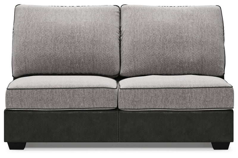 55003 Bilgray Pewter 3-Piece LAF Chaise Sectional