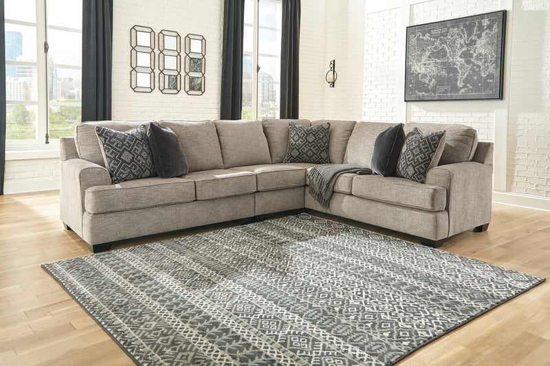 56103 Bovarian Stone 3-Piece RAF Sofa Sectional