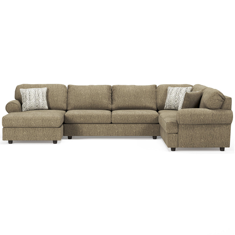 56402 Hoylake Chocolate 3-Piece LAF Chaise Sectional