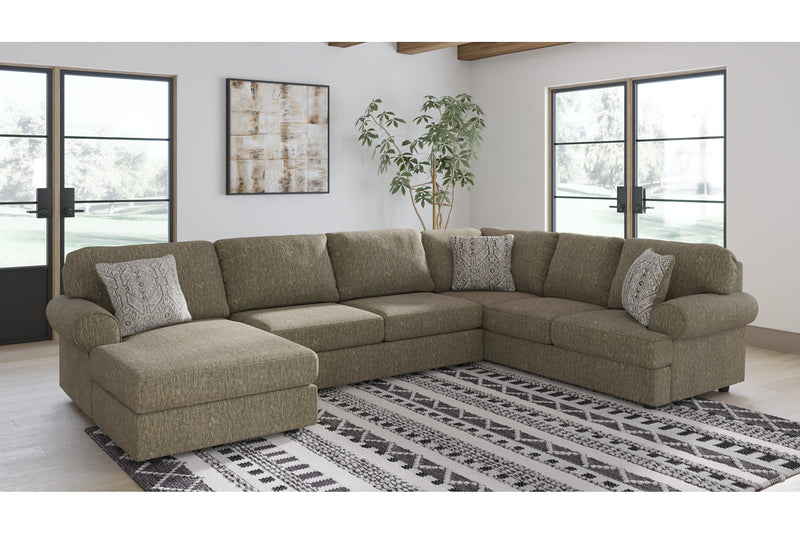 56402 Hoylake Chocolate 3-Piece Sectional | 56402S2 | by Ashley | Nova Furniture