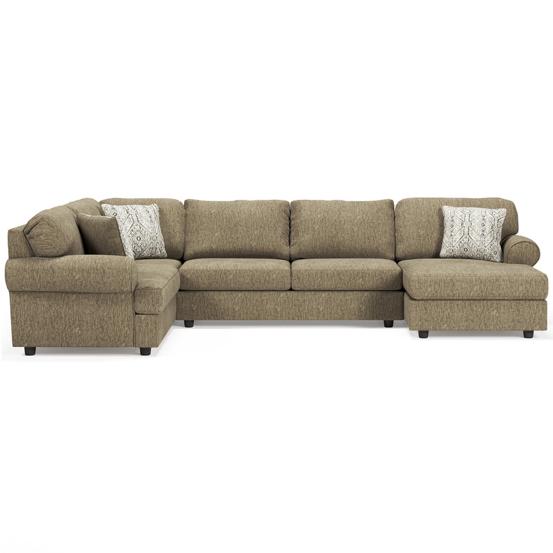 56402 Hoylake Chocolate 3-Piece RAF Chaise Sectional