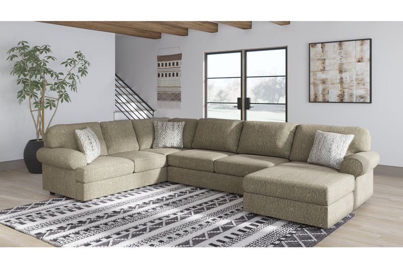 56402 Hoylake Chocolate 3-Piece Sectional with Chaise | 56402S1 | by Ashley | Nova Furniture
