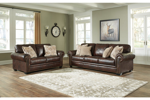 58702 Roleson Walnut Sofa & Loveseat