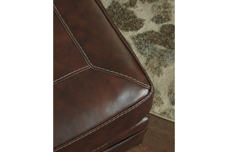 58702 Roleson Walnut Ottoman | 5870214 | by Ashley | Nova Furniture