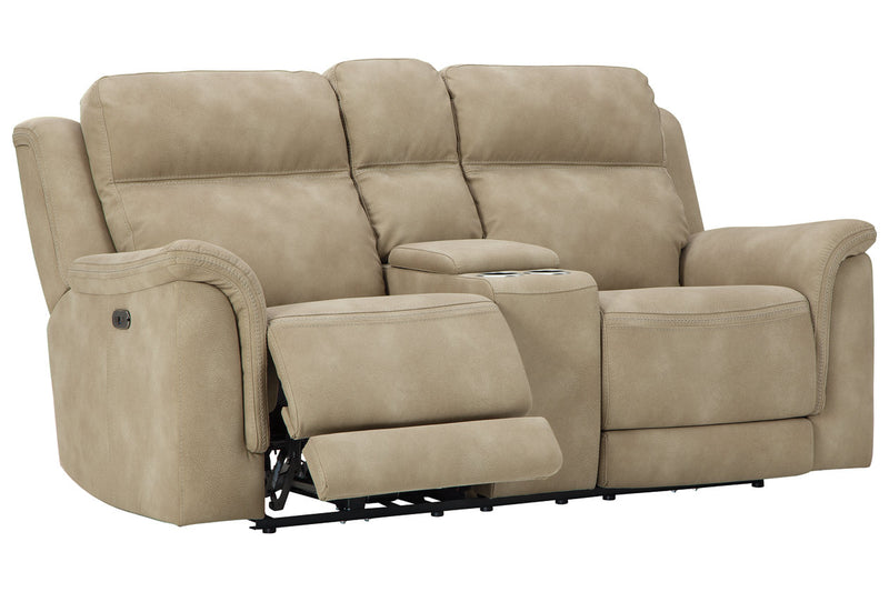 59302 Next-Gen DuraPella Sand Power Reclining Sofa & Loveseat
