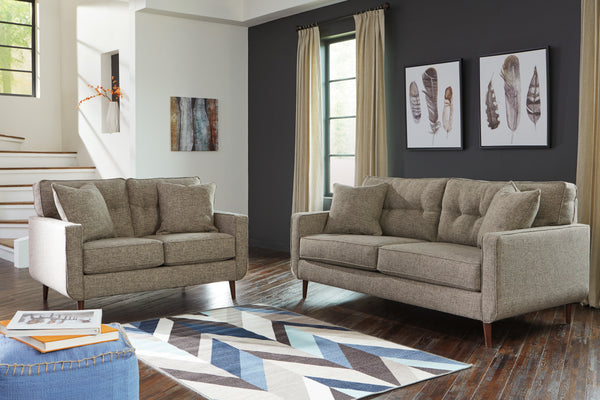 62802 Dahra Jute Sofa & Loveseat