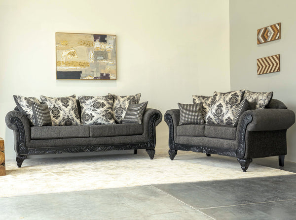 6420 Sinbad Smoke Sofa & Loveseat