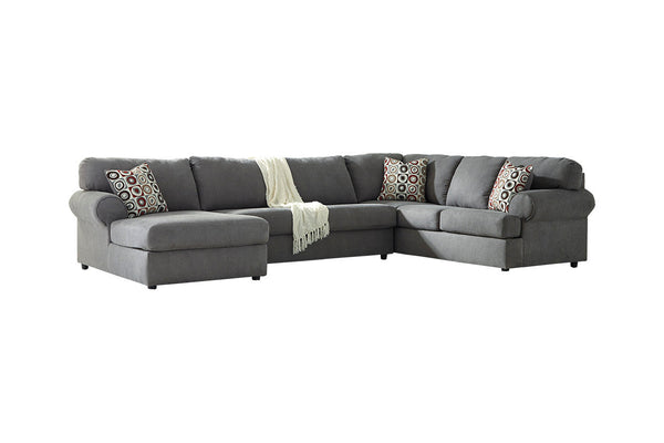 64902 Jayceon Steel 3-Piece RAF Chaise Sectional