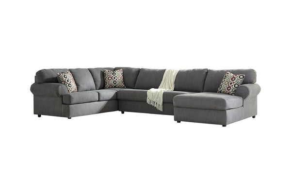 64902 Jayceon Steel 3-Piece LAF Chaise Sectional