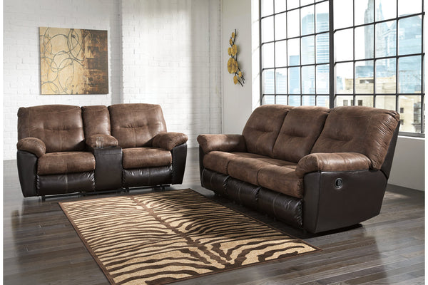 65202 Follett Coffee Reclining Sofa & Loveseat