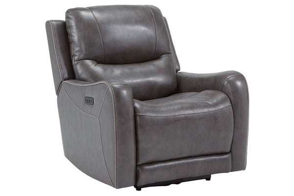 66103 Galahad Smoke Power Recliner