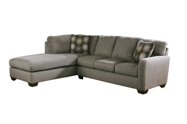 70200 Zella Charcoal 2-Piece LAF Chaise Sectional
